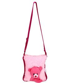 IR Soft Fur Shoulder Bag Teddy Applique (Color May Vary)