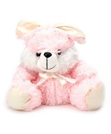 IR Bunny Soft Toy With Bow Medium - Pink