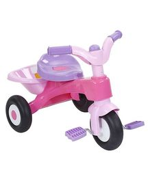Tricycle With Rear Storage Basket - Pink And Purple
