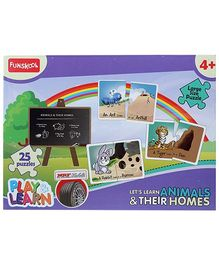 Funskool Play And Learn Puzzle - Lets Learn Animals And Their Homes