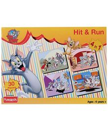 MGM Tom And Jerry  Hit N Run 4 in 1 Puzzle