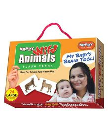Krazy Flash Cards Wild Animals My Baby Brain Tool - 26 Large Cards
