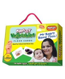 Krazy Flash Cards With Ring Vegetables My Baby Brain Tool - 26 Large Cards