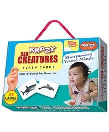 Krazy Flash Cards With Ring Sea Creatures My Baby Brain Tool - 26 Large Cards