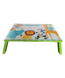 Kidoz Animals Print Bed Table - Light Green