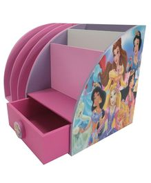 Kidoz Princess Desk Set Cum Bookend - Pink And White