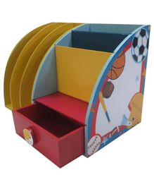 Kidoz Sports Desk Set Cum Bookend - Multi Colour