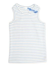 Nino Bambino Sleeveless Tank Top Blue - Horizontal Stripe Print