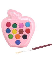 Mr. Clean Gems Water Crayons Pack with Apple Shape Palette- 12 Shades