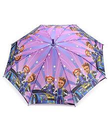 Fab N Funky Kids Umbrella Purple - Racer Car Print