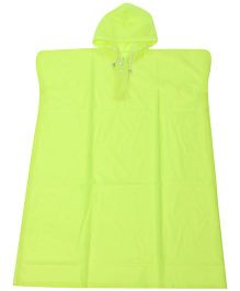 Babyhug Poncho Style Raincoat With Hood - Green