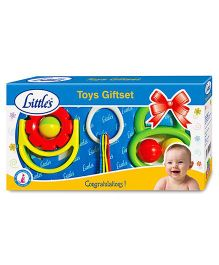 Little's Toys Rattle Gift Set - Set of 3 (Color And Style May Vary)