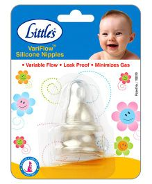 Little's Variflow Silicone Nipple - Set of 2