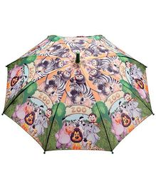 Fab N Funky Multicolor Kids Umbrella with Zoo Animal Print