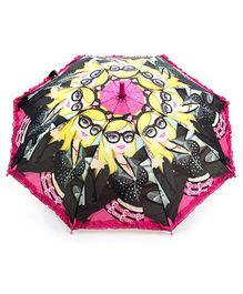 Fab N Funky Multicolor Kids Umbrella with Girl Print
