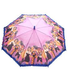 Fab N Funky Multicolor Kids Umbrella with Girls Print