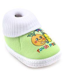Little's Socks Booties - Green
