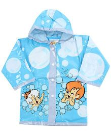 Minister Hooded Raincoat Blue - Baby Print