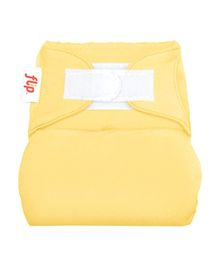 Flip Hook And Loop Stay Dry Cloth Diaper Cover - Butternut