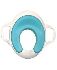 Sunbaby Ultra Soft Potty Seat With Handles - White And Blue