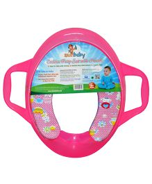 Sunbaby Rabbit Print Potty Seat With Handles - Pink
