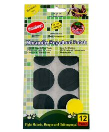 RunBugz Mosquito Repellent Patch Green - Pack Of 12