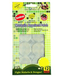 Runbugz Anti Mosquito Patches Plain White - 12 Patches