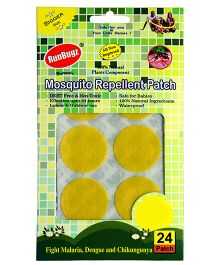 RunBugz Mosquito Repellent Patch Yellow - Pack Of 24