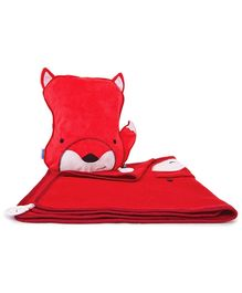 Trunki SnooziHedz Travel Pillow and Blanket Felix the Fox - Red