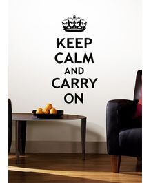 RoomMates Keep Calm And Carry On Quote - 12 Decals