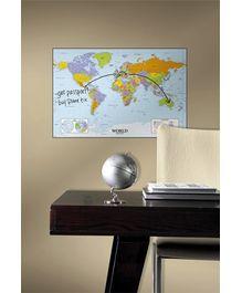 RoomMates World Map Dry Erase Giant Peel