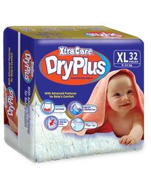 Xtra Care Dry Plus Disposable Baby Diapers Extra Large - 32 Pieces