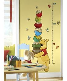 RoomMates Pooh And Friends Growth Chart  Sticker - 19 Decals