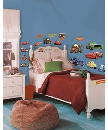 RoomMates Disney Cars Piston Cup Champions Wall Decals - 19 Stickers
