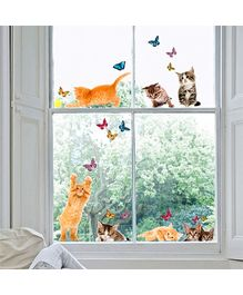 Home Decor Line Electrostatic Window Stickers Cats