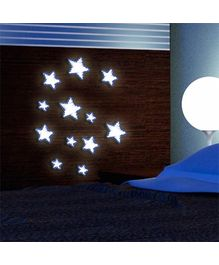 Home Decor Line 3D Glow in the Dark Foam Stickers Stars