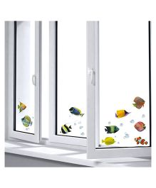 Home Decor Line Vinyl Window Stickers Fishes