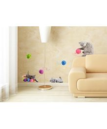 Home Decor Line Vinyl Wall Stickers Playful Cats