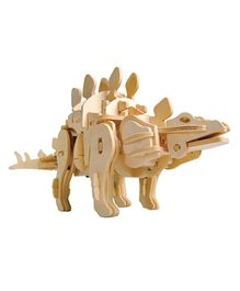 Robotime 3D Wooden Battery Operated Robotic Puzzle - Stegosaurus