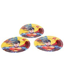 DC Comics Superman Paper Plate 9 Inches - Set Of 10