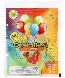 Celeberations! Rubber Play Balloons Medium - 15 Balloons