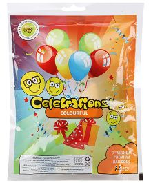 Celebrations! Round Rubber Play Balloon Medium - 25 Pieces