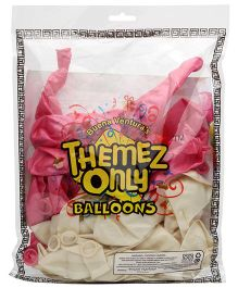 Themez Only Rubber Play Balloon Large - 50 Pieces (Color May Vary)