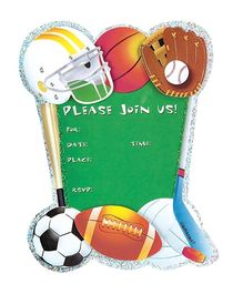 Wanna Party Game Day Jumbo invitation - Pack of 8