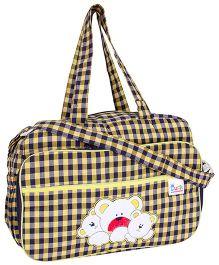 Duck Mother Bag Checks Print - Black And Yellow