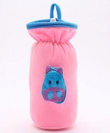 Babyhug Plush Bottle Cover Cute Bug Motif Large - Pink