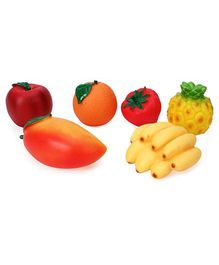 Speedage Fruit Family PVC Squeezy  Fruits - 6 Pieces