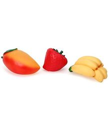 Speedage Squeezy PVC Fruit Family Assorted - Set Of 3