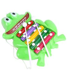 Prime Creations Pull Along Frog Xylophone (Color May Vary)