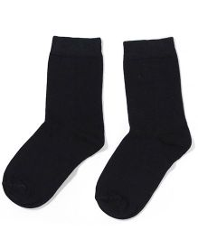 Mustang Solid Color School Socks -  Black